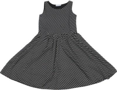 Old Khaki Gown Dress For Girls(Black Sleeveless)