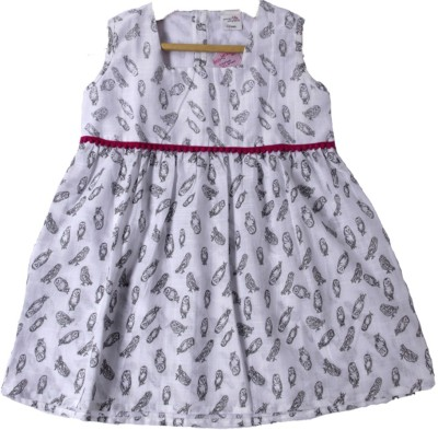 Ponies And Ponytails Tunic For Girls(White Sleeveless)