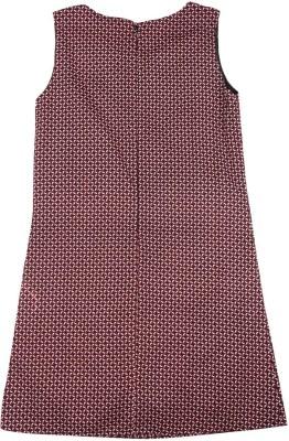 Elle Kids Girl's Midi/Knee Length Casual Dress(Brown, Sleeveless) at flipkart