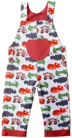Kadambaby Dungaree For Boys Animal Print Cotton(Multicolor, Pack of 1)