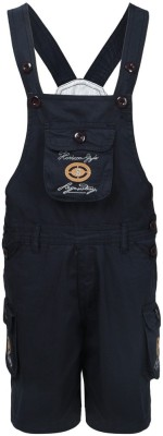 Benext Dungaree For Boys Solid Cotton(Blue, Pack of 1)