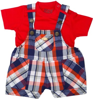 Mee Mee Dungaree For Baby Boys(Red)