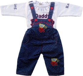 Icable Dungaree For Boys Casual Applique Denim(Multicolor, Pack of 1)