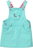 Beebay Dungaree For Girls Embroidered Co...