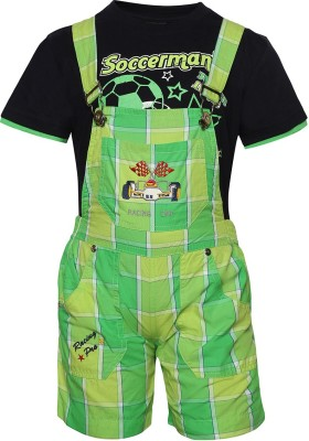 Seals Dungaree For Baby Boys(Green)