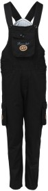 Benext Dungaree For Boys Solid Cotton(Black, Pack of 1)