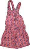 Indirang Dungaree For Girls Solid Cotton...