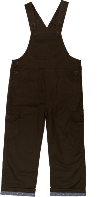 ChildKraft Dungaree For Boys Casual Solid Cotton(Brown, Pack of 1)
