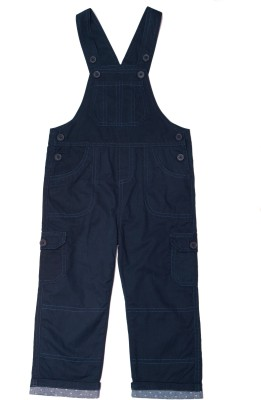 ChildKraft Dungaree For Boys Solid Cotton(Dark Blue, Pack of 1)