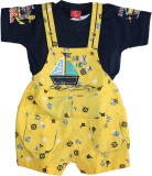 ZuZu Dungaree For Boys Printed Cotton (Y...