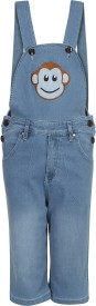 Benext Dungaree For Boys Solid Denim(Light Blue, Pack of 1)