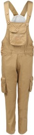 Benext Dungaree For Boys Solid Cotton(Beige, Pack of 1)