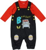 FS Mini Klub Dungaree For Boys Solid Cot...