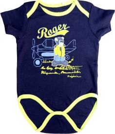 Starsy Romper For Baby Boys & Baby Girls Casual Printed Cotton(Dark Blue)