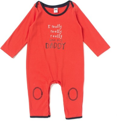 Spring Bunny Romper For Baby Boys(Red)