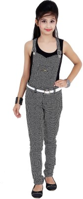 Sunday Casual Dungaree For Girls(Black)