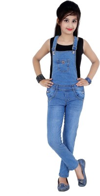Sunday Casual Dungaree For Girls(Blue)