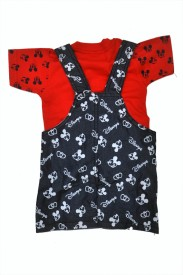 Belle Girl Romper For Boys Printed Cotton(Red, Pack of 1)