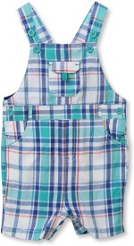 Beebay Dungaree For Boys Casual Checkered Cotton(Multicolor, Pack of 1)