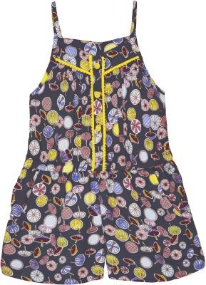 Caca Cina Romper For Girls(Multicolor)