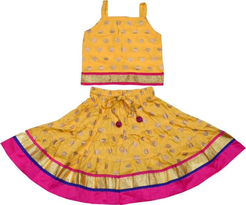 Magnus Girls Top and Skirt Set(Yellow Pack of 1)