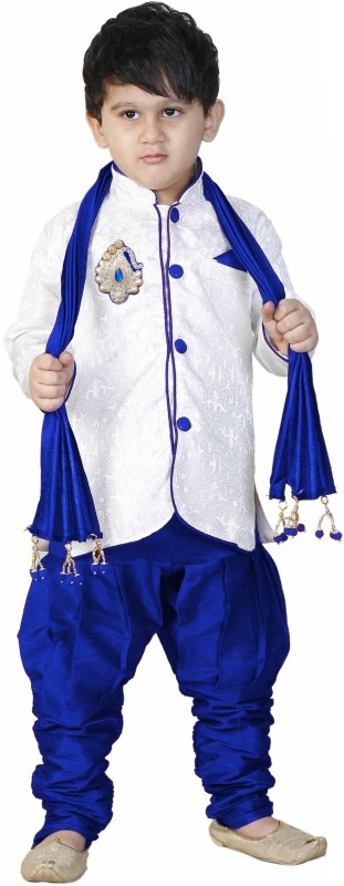FTC Bazar Boys Kurta, Pyjama & Dupatta Set(White Pack of...