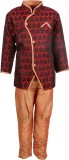 BownBee Boys Kurta and Breeches Set (Red...