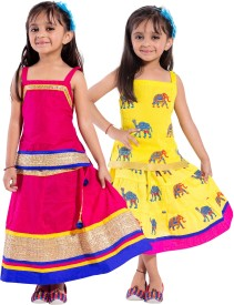 Decot Paradise Girls Top and Skirt Set(Multicolor Pack of 2)