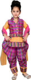 Aarika Girls Kurti, Patiala and Dupatta Set(Yellow Pack of 1)