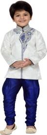 AJ Dezines Boys Sherwani and Churidar Set(Blue Pack of 1)