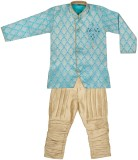 BownBee Boys Kurta and Breeches Set (Blu...