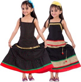 Magnus Girls Top and Skirt Set(Multicolor Pack of 2)
