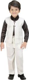 Kute Kids Boys Shirt, Waistcoat and Pant Set(White Pack of 1)