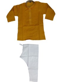 Pogo Boys Kurta and Pyjama Set(Yellow Pack of 1)