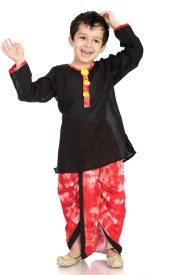Little Pocket Store Boys Dhoti & Kurta Set(Black Pack of 1)