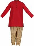 Svanik Boys Kurta and Breeches Set (Red ...