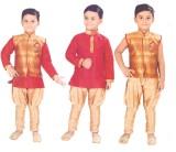 Hey Baby Boys Ethnic Jacket, Kurta and D...