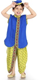Little Pocket Store Boys Dhoti & Kurta Set(Blue Pack of 1)