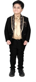 New Yark Boys Blazer and Pant Set(Black Pack of 4)