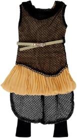 kidies wear Girls Kurta and Leggings Set(Black Pack of 1)