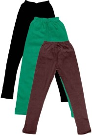 IndiStar Legging For Girls(Multicolor Pack of 3)