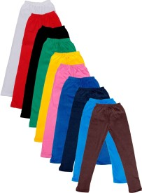 IndiStar Legging For Girls(Multicolor Pack of 10)