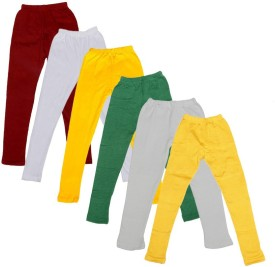 IndiStar Legging For Girls(Maroon Pack of 6)