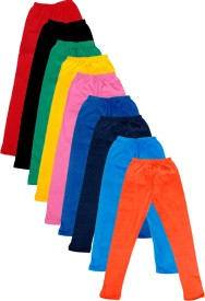 IndiStar Legging For Girls(Multicolor Pack of 9)