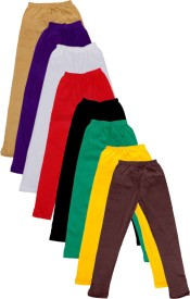 IndiStar Legging For Girls(Multicolor Pack of 8)