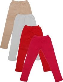 IndiStar Legging For Girls(Beige Pack of 4)