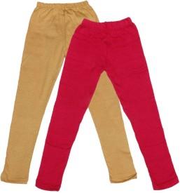 IndiWeaves Legging For Girls(Beige Pack of 2)