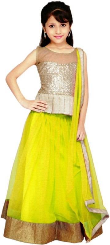 47f8bb892042 Mahavir Fashion Girl s Silk Lehenga (BABY  BEAUTY ...