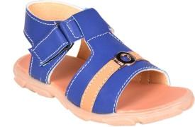 Snappy Boys Sling Back T-bar Sandals(Blue)