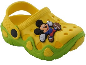 Pollo Boys & Girls Sling Back Clogs(Yellow)